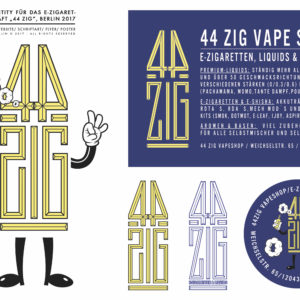 "Corporate Identity, Logo für Vapeshop ""44 ZIG"""