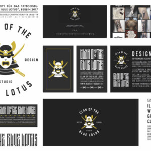 "Corporate Identity, Logo Tattooshop ""Clan of the Blue Lotus"", Berlin 2017"