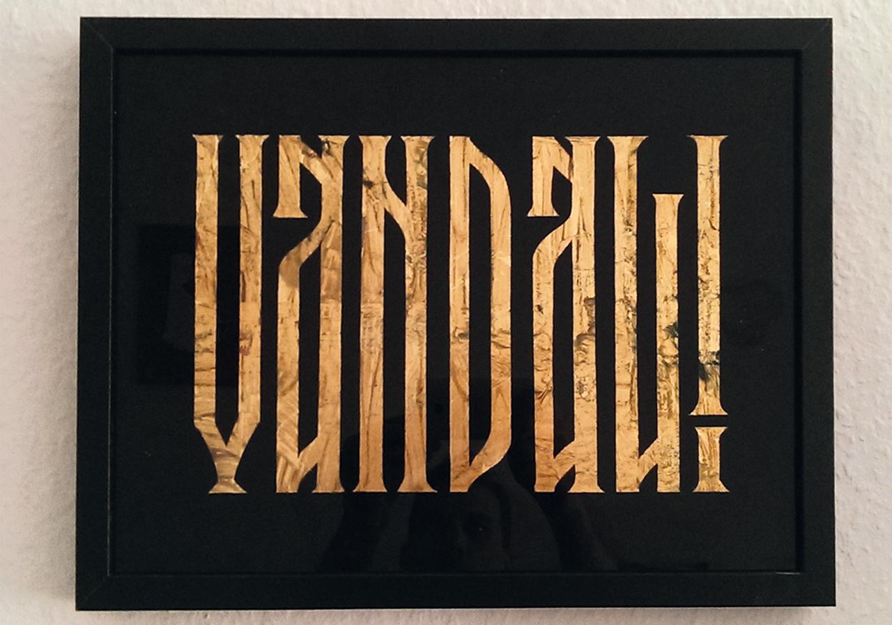 Schaufenster Gestaltung mit Blattgold, gold leaf lettering,berlin,schildermalerei