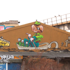 graffiti, character, skull, urban art, on bail artworks
