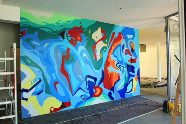 WANDGESTALTUNG,essen,kws,urbanart,graffiti,auftrag,on bail artworks,fassadengestaltung,