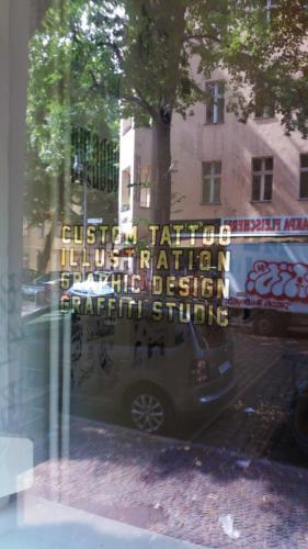 Tattoostudio - COTBL -01Gold Leaf Lettering