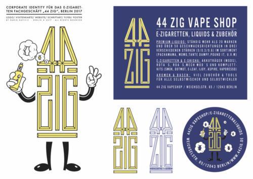 """44 Zig"" E-Zigaretten"