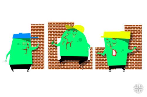 Bauarbeiter Grün- Character Studie
